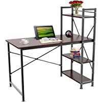 Yaheetech Home Office Computer Desk with 4 Tier Shelves Study Student Business Workstation