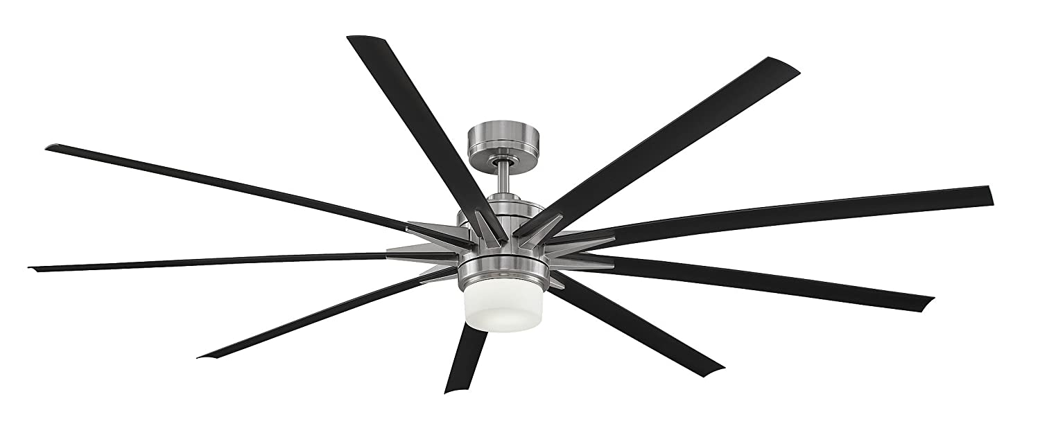 Amazon.com: Fanimation FPD8148BN Odyn LED Ceiling Fan, 84 Inch, Brushed  Nickel: Home Improvement