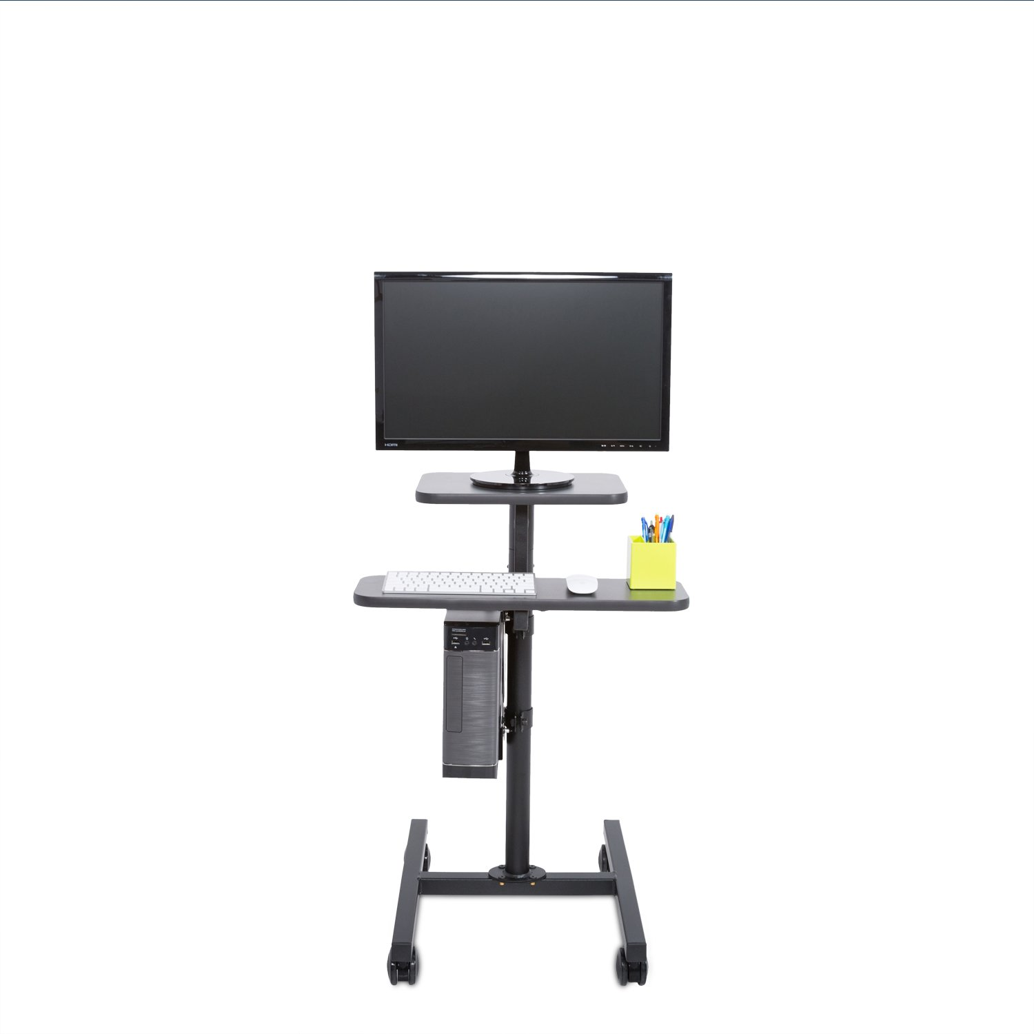 Height Adjustable Rolling Cart Workstation, Black by Versa Tables (Image #2)