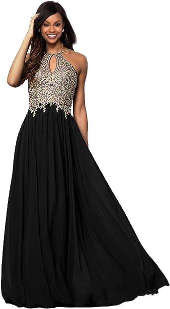 Womens Halter Prom Dress Long 2020