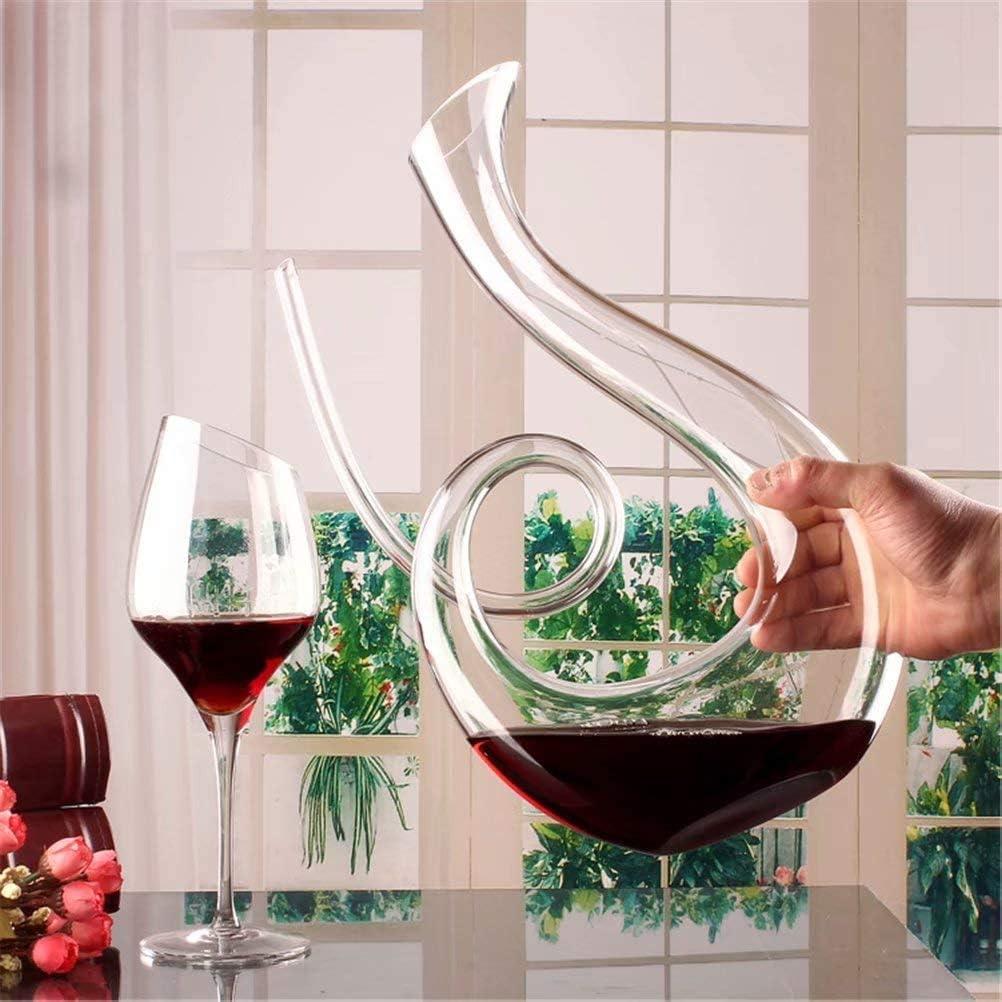 Weinzubeh/ör 1500 ml klassischer Weinbel/üfter mundgeblasenes bleifreies Kristallglas Rotweinkaraffe SDFSX Weinkaraffe Weingeschenke