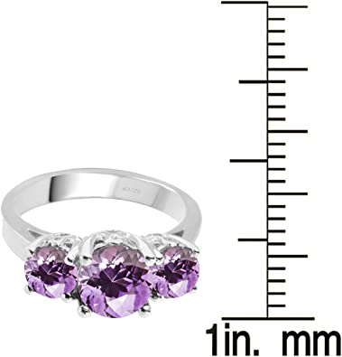 Details about  /Amethyst 3.93 Ct Gemstone 925 Sterling Silver Yellow Color Ring