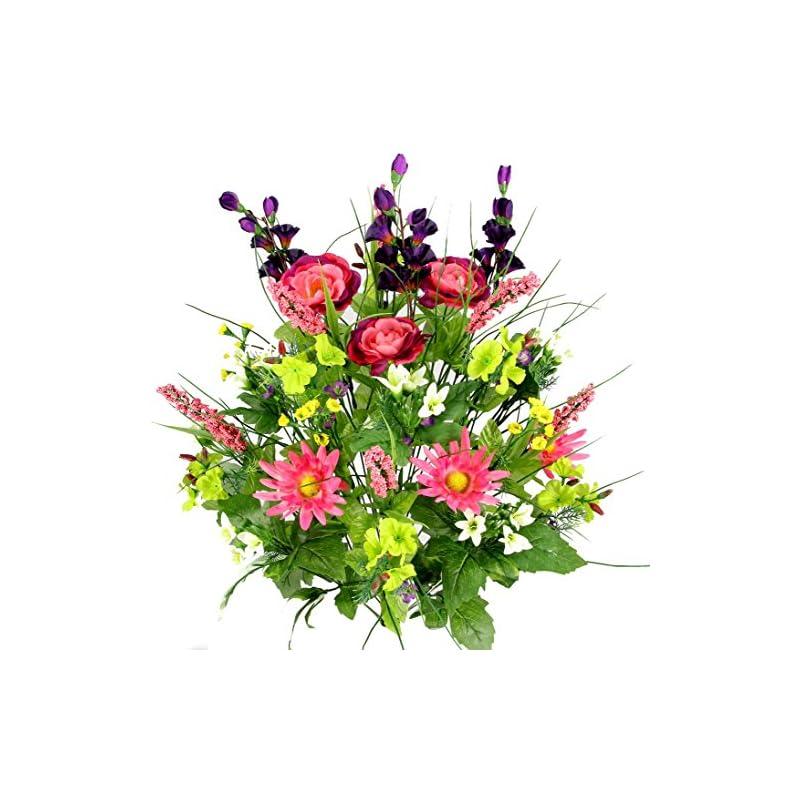 silk flower arrangements admired by nature flower artificial bush, garden mix