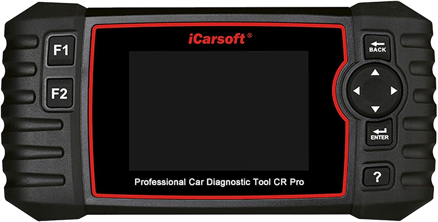 iCarsoft CR Pro Professional Multi-System Multi-Brand Car Diagnostic Tool Scanner incl. Battery Tester, Read and Clear Engine, Transmission, Airbag, ABS Trouble Codes
