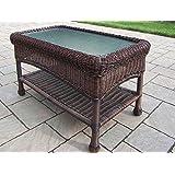 Oakland Living AZ90027-CT-CF Resin Wicker Coffee Table, Coffee