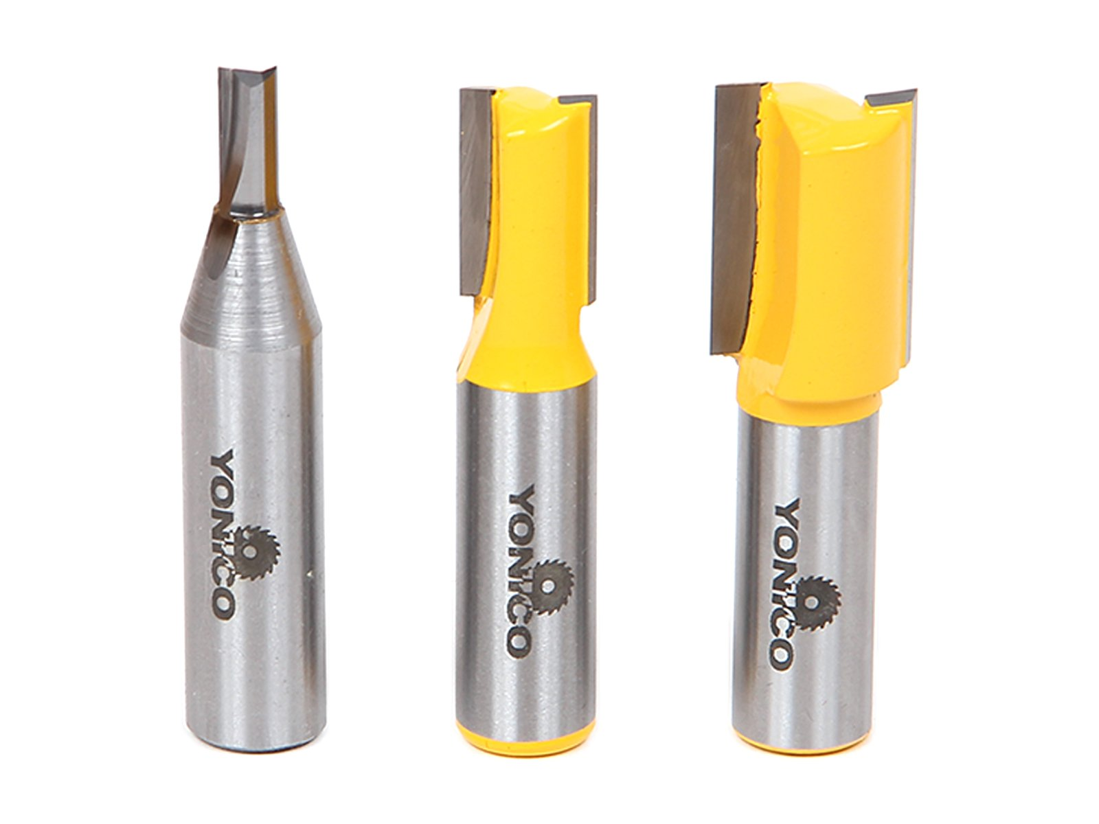 Yonico 14323 3 Plywood Dado Router Bits for 3/4-Inch 1/2-Inch and 1/4-Inch Plywood 1/2-Inch Shank