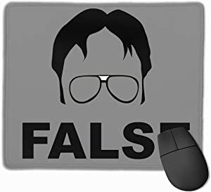 """The Office Dwight Schrute Mouse Pad Computer Pad Non-Slip Rubber Base Mouse Pad 12"""" X 10"""""""