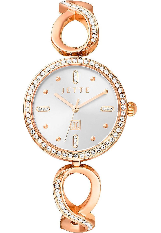 JETTE Time Damen-Armbanduhr Analog Quarz One Size - silberfarben - schwarz