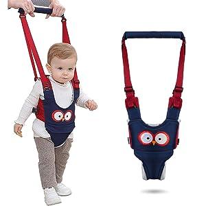 Baby Walking Harness, Handheld Kids Walker Harness, Infant Walker Helper Assistant, Adjustable Safety Breathable Walker Learning Trainer, Help Baby Keep Balance Walk for 7-24 Month Old (Dark Blue)