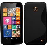 EVERMARKET(TM) Fashion S-Line Rubber Soft TPU Case Gel Cover For Nokia Lumia 630 635