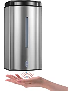ADKO Wall Mounted Automatic Soap Dispenser Sensor Soap Dispenser,Hands Free  Touchless Soap Dispenser
