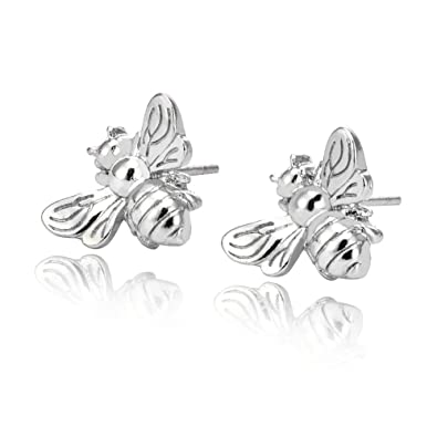 2aab317a5 MUZHE Cute Honeybee Stud Earrings for Kids - Gold Silver Insect Bee Earrings  Tiny Bumble Bee