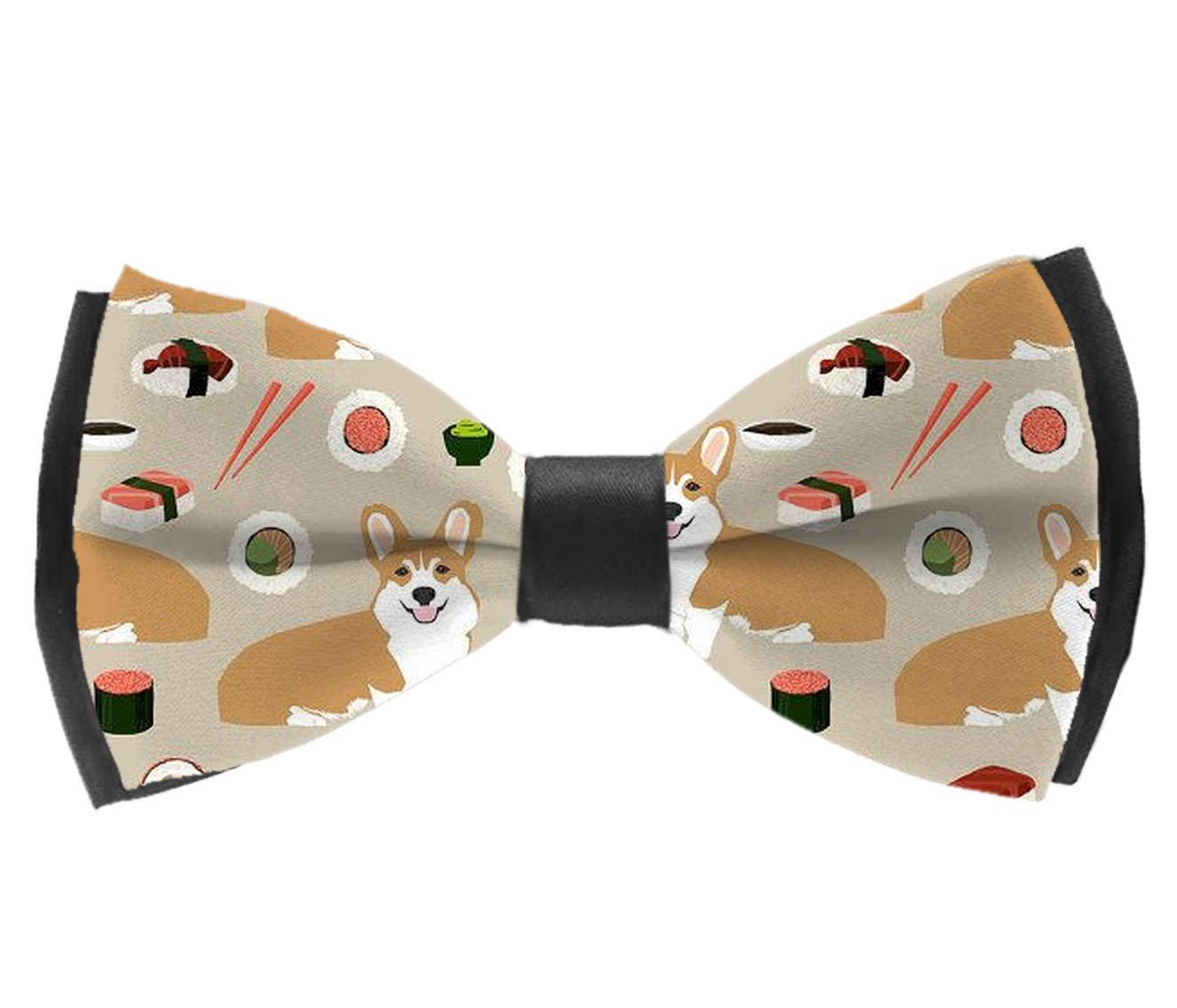 Japanese Sushi Corgi Assorted Pattern Adjustable Neck Tie Bowties