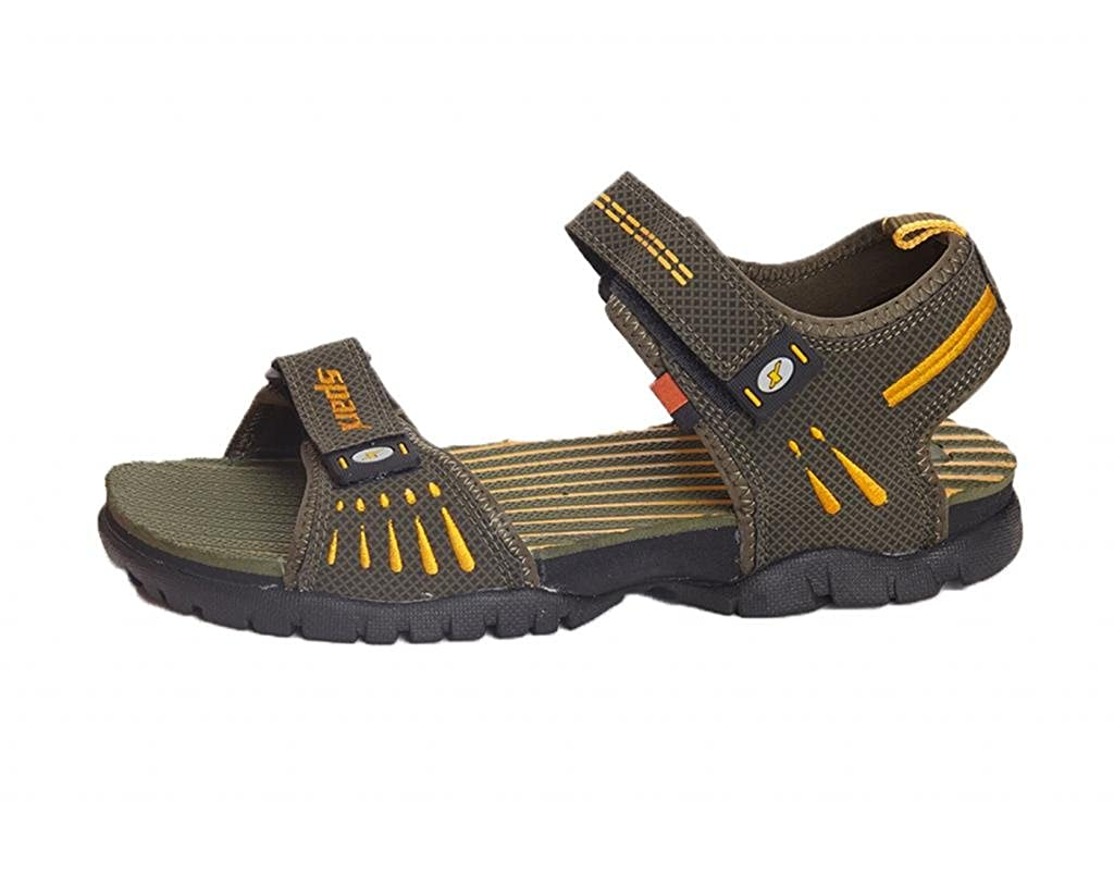 5c68ffc86ac5e9 Sparx Men s Sandals and Floaters SS-209-OLIVE-YELLOW  Buy Online at Low  Prices in India - Amazon.in