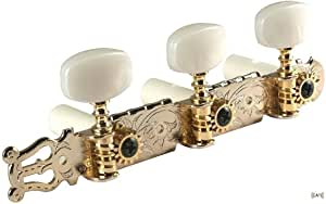 Flash Gold Lyra-Type Gotoh Classical Guitar Tuners, 35G420