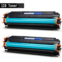 IKONG 2-BLACK 128 Toner Compatible for Canon 128 work