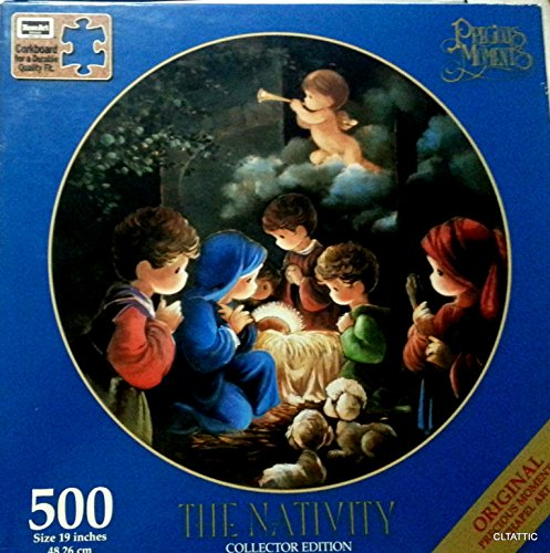 Precious Moments Collector's Edition The Nativity 500 Piece Jigsaw Puzzle by Rose Art