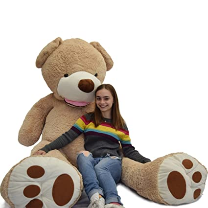 69ffe656bb6 Amazon.com  WOWMAX 11 Foot Light Brown Huge Teddy Bear Toys Giant ...