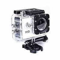 Gezichta - Videocamera sportiva, action camera impermeabile WiFi Full HD 1080p 30metri, schermo LCD 5,1cm subacquea a 29,9m, grandangolo 170°, batteria ricaricabile e confezione portatile
