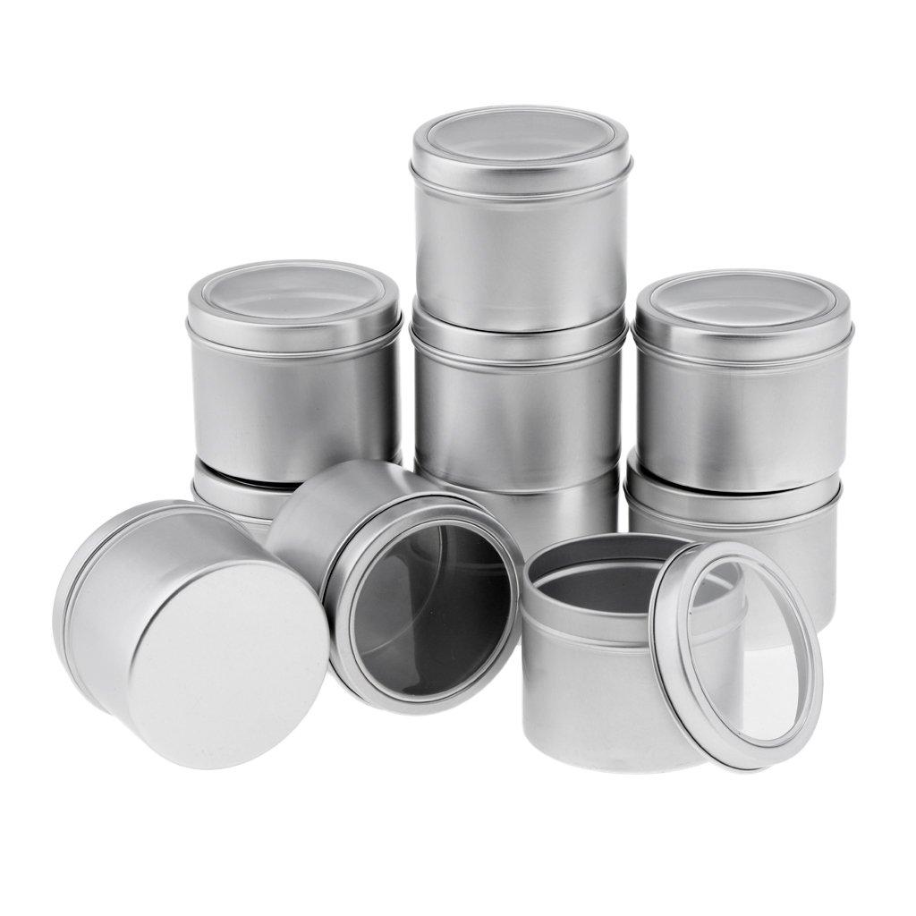 B Blesiya 10pcs 100ml Svuotano Le Latte Di Alluminio D'argento Del Contenitore Del Balsamo Del Labbro Dei Vasi Cosmetici Vuoti
