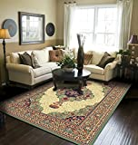 Traditional Area Rug Medallion Green Large Rugs For Living Room 8x10 Clearance Under 100