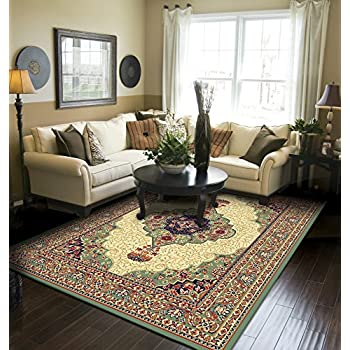 Amazon.com: Large Rugs For Living Room Cheap 8\'x11\' MultiColor Red ...