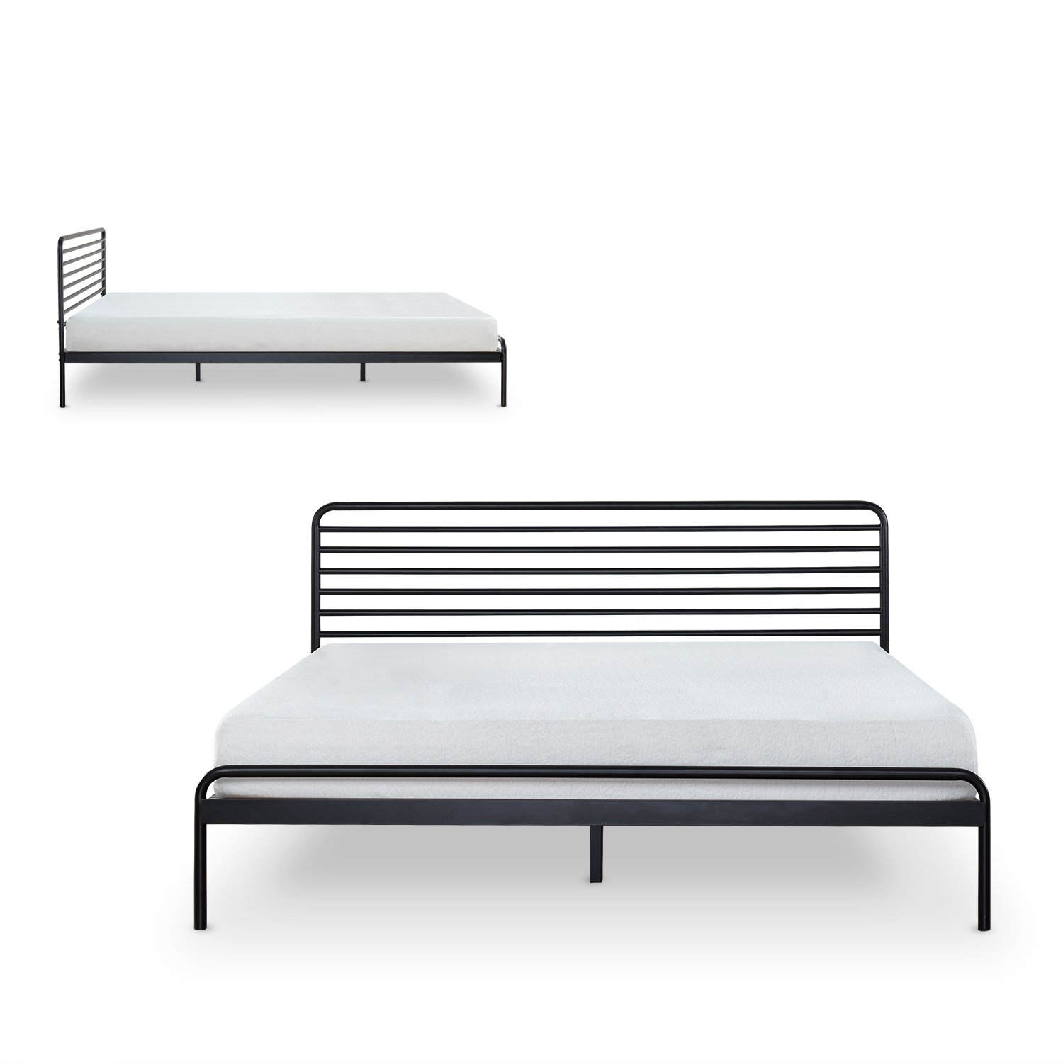 Zinus Tom Metal Platform Bed Frame / Mattress Foundation / No Box Spring Needed / Wood Slat Support / Design Award Winner, Full