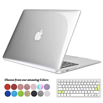 san francisco 9dcc6 1024a TECOOL MacBook Air 13 inch Case, Ultra Slim Plastic Hard Shell Snap on  Protective Case with Silicone Keyboard Cover for Apple MacBook Air 13.3