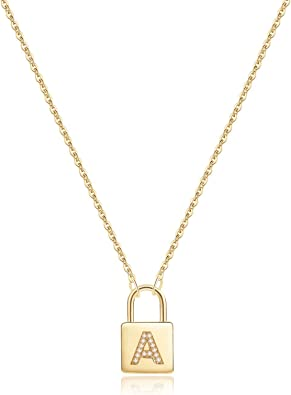 Dainty Gold Lock Necklace  Tiny Lock Necklace  Lock Layering Necklace  Padlock Necklace  Anniversary Gift  Gold Filled Sterling Silver