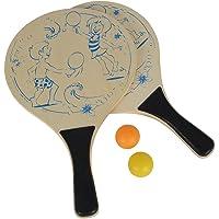 Simba 107403472 - Beach Ball Set, Holz, 2-sortiert, mehrfarbig