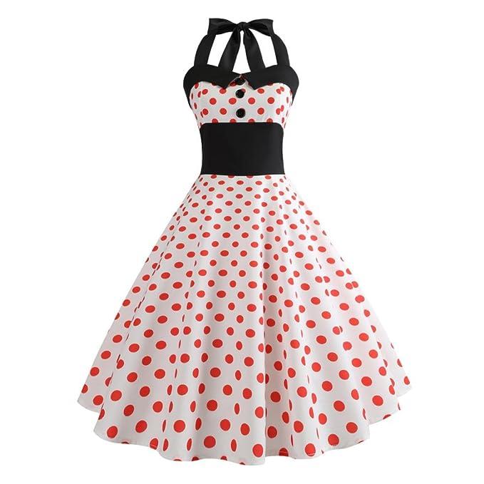 RETUROM-Vestidos Vestido de Verano, Mujer Verano Mini Vestido Casual ...