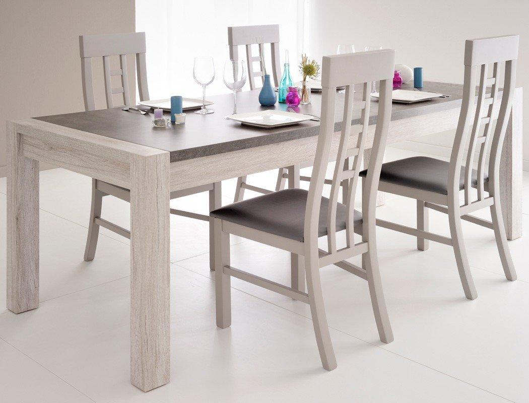 Esszimmer Tischgruppe Marten 17 Grau Steinoptik Tisch 4x Stuhl
