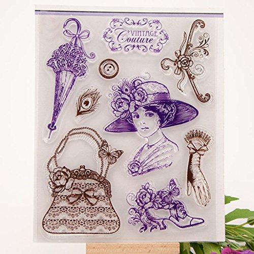 China Handbags Ladies (Mimgo Lady Handbag & Umbrella DIY Silicone Clear Rubber Stamp Sheet Scrapbooking Album)
