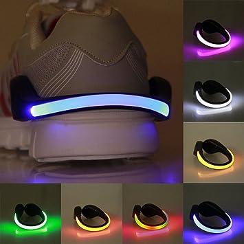Zapatillas de seguridad Efanr 1 pieza LED Clip Luz Reflectante ...
