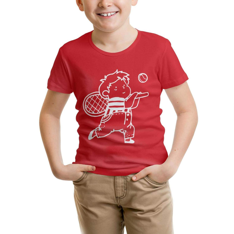 Tennis Ball Sports Boys 100/% CottonT-Shirts Solid forGirls Shirt Childrens Parttern