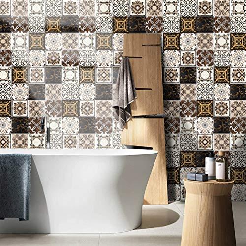 RAN-ART M Baldosas Pegatinas de Azulejos baño y Cocina Azulejos Adhesivos fácil de aplicar despegar y Pegar. Home Decor...