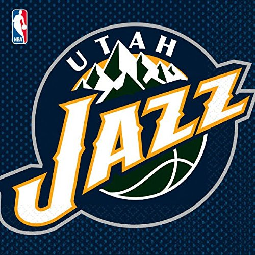 Sports and Tailgating NBA Party Utah Jazz Luncheon Napkins Tableware, Paper, 6