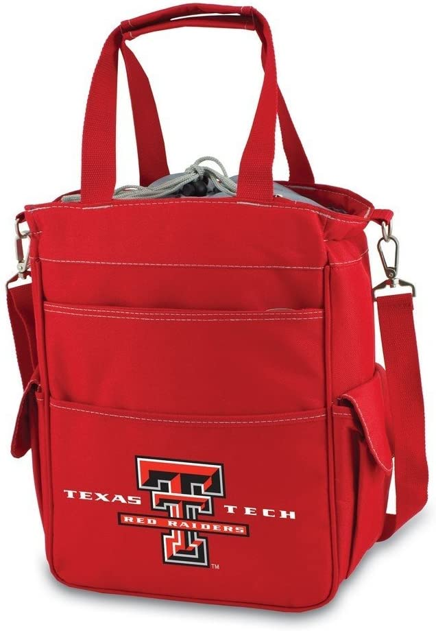 ONIVA Activo Cooler Tote Bag, a Picnic Time brand Texas Tech Red Raiders Red with Gray Accents