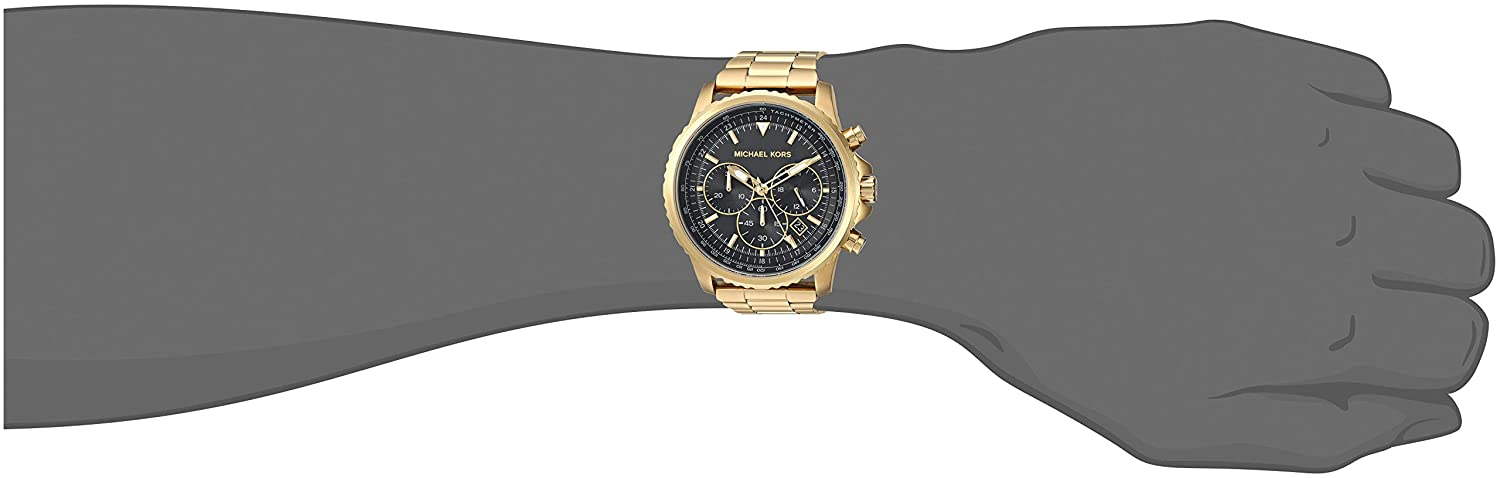 86c462c7163c Amazon.com  Michael Kors Men s Theroux Analog-Quartz Watch with  Stainless-Steel-Plated Strap