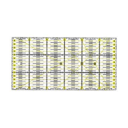 3 Piezas Rect/ángulo Cuadrado Claro Edred/ón Acolchado Regla Patchwork Regla de Costura Conjunto de Herramientas Craft DIY LANDUM Sewing Rulers Set