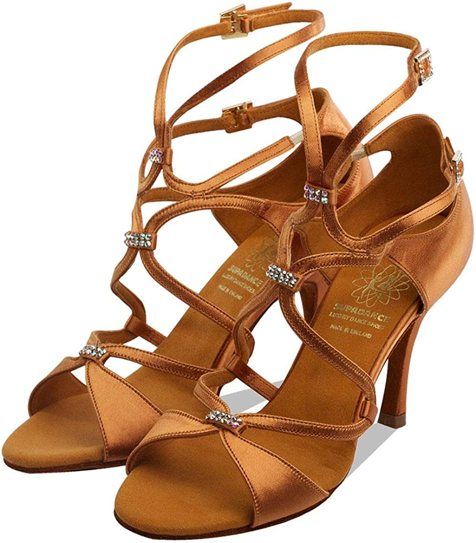 Supadance Style 1062 Chaussures de danse en satin noir