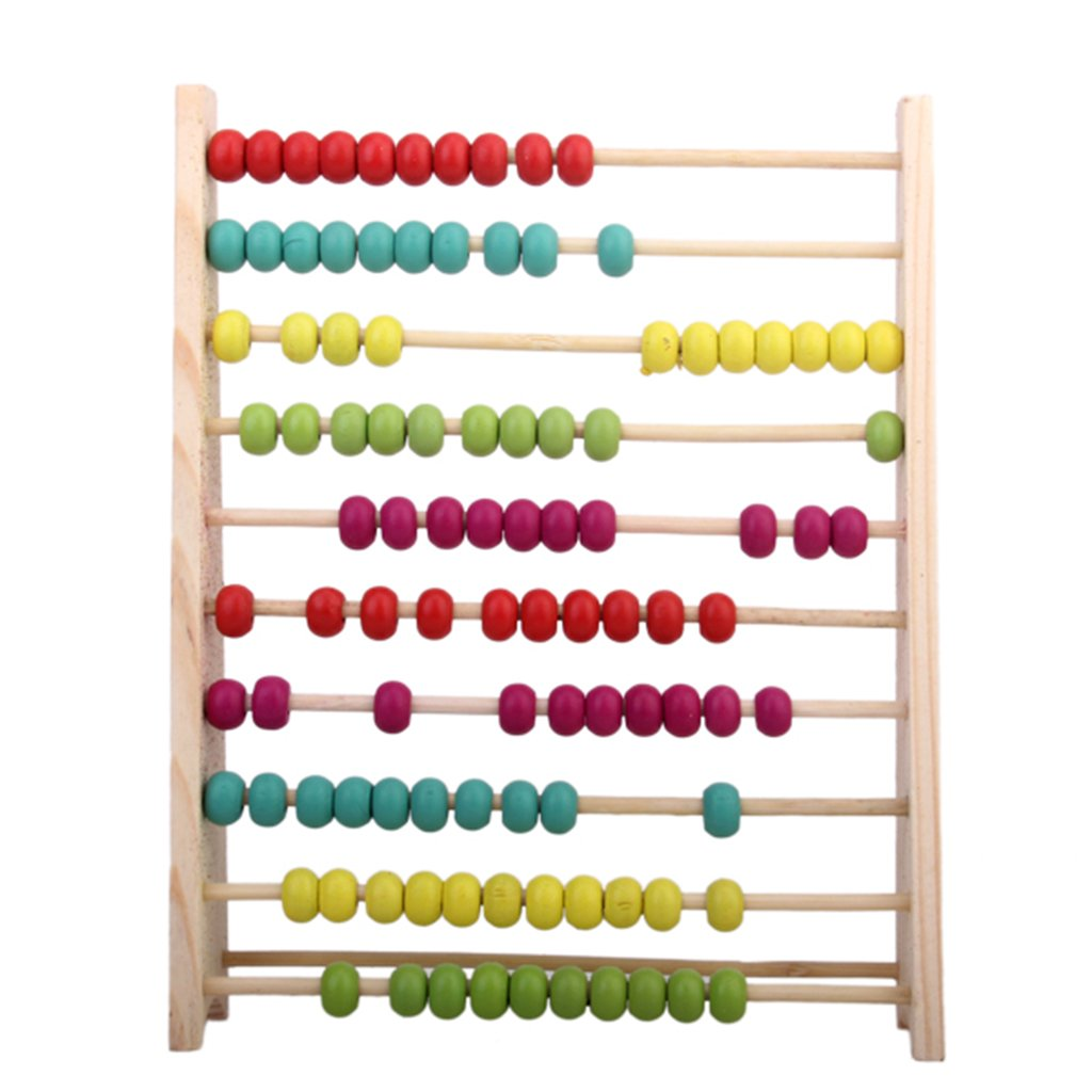 AKORD BA-9 Kids Educational Toy Wooden Abacus, Multicolour