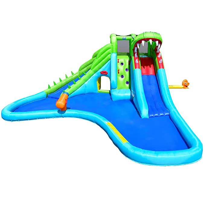 Amazon.com: Cocodrilo de Costzon, inflable, castillo con dos ...