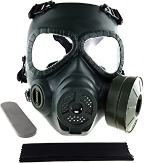 SportPro M04 Dummy Gas Mask Protection Full Face Fan Mask for Airsoft - Green