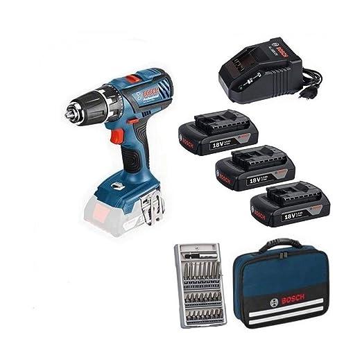 Taladro atornillador 18 V Bosch GSR18 - 2 LI Kit Profesional ...