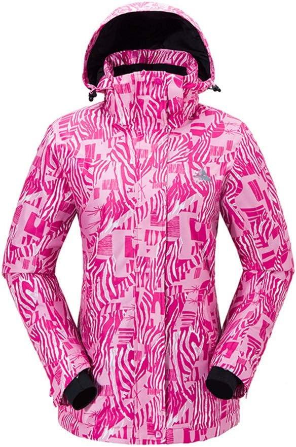 レディーススキースーツ 屋外スキーウェアシングルとダブルボードウォームジャケット女性の防風防水スノースーツ スキー休暇用 (色 : C4, サイズ : S) C4 Small