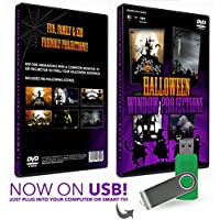 HD Halloween USB Digital Projection Decoration for TV, Projectors and Computer - Kid Friendly!