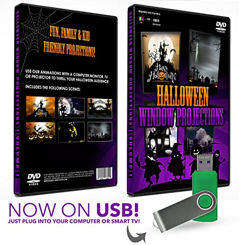 HD Halloween USB Digital Projection Decoration for TV,