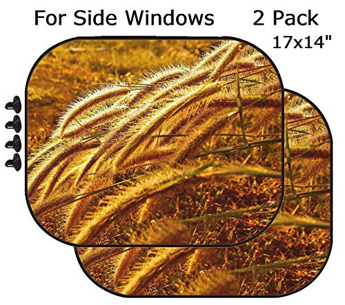 MSD Car Sun Shade - Side Window Sunshade Universal Fit 2 Pack - Block Sun Glare, UV and Heat for Baby and Pet - Image ID 20780155 Close up -