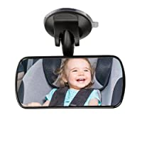 MINISTAR Back Seat Baby Mirror - Rear View Baby Car Seat Mirror Wide Convex Shatterproof Glass Fully Assembled - Crash Tested Certified Safety